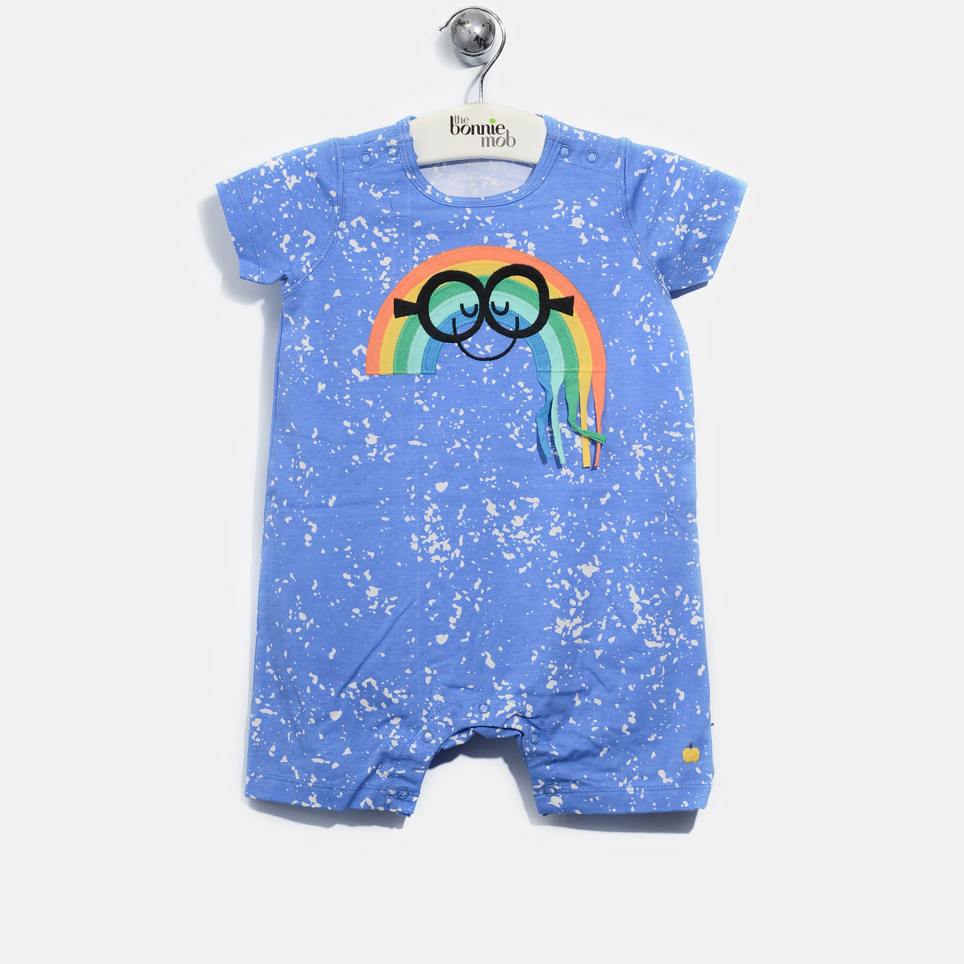 L-ARCHIE-Smiley Rainbow Tassel Romper-Baby-Sea