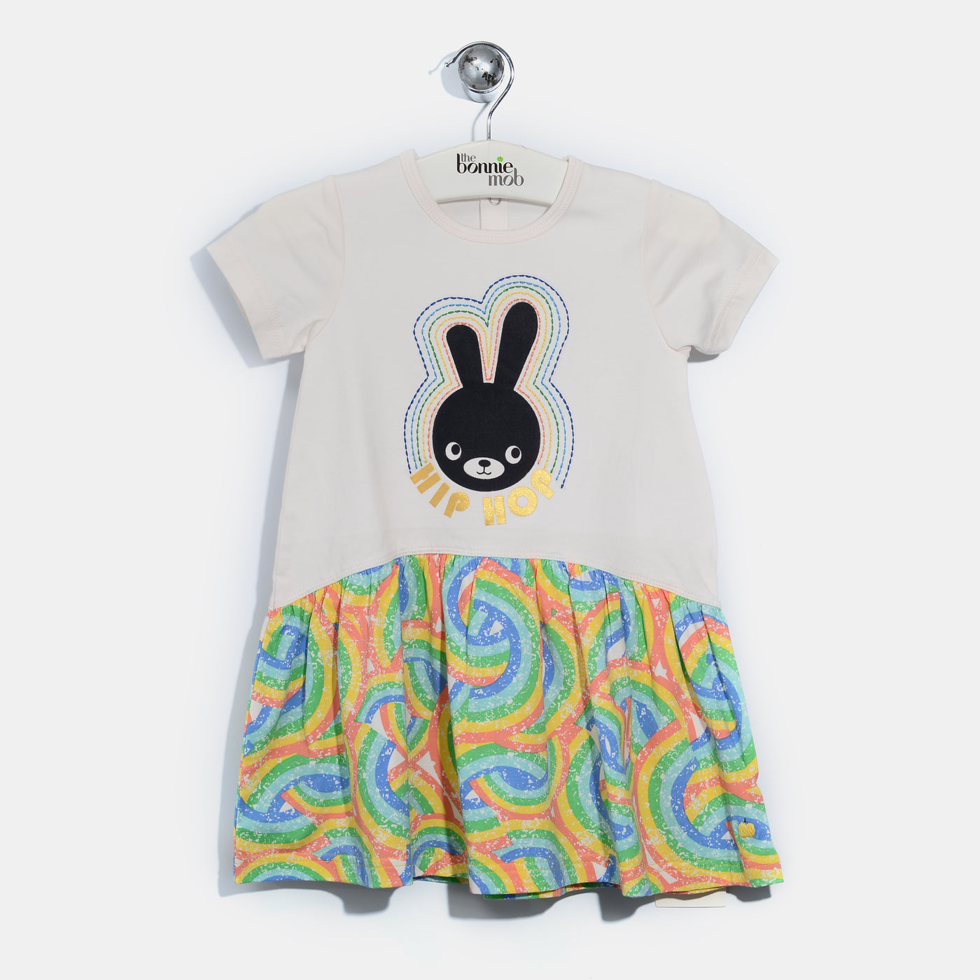 L-BRIE-Hip Hop Bunny Dress-Kids Girl-Rainbow