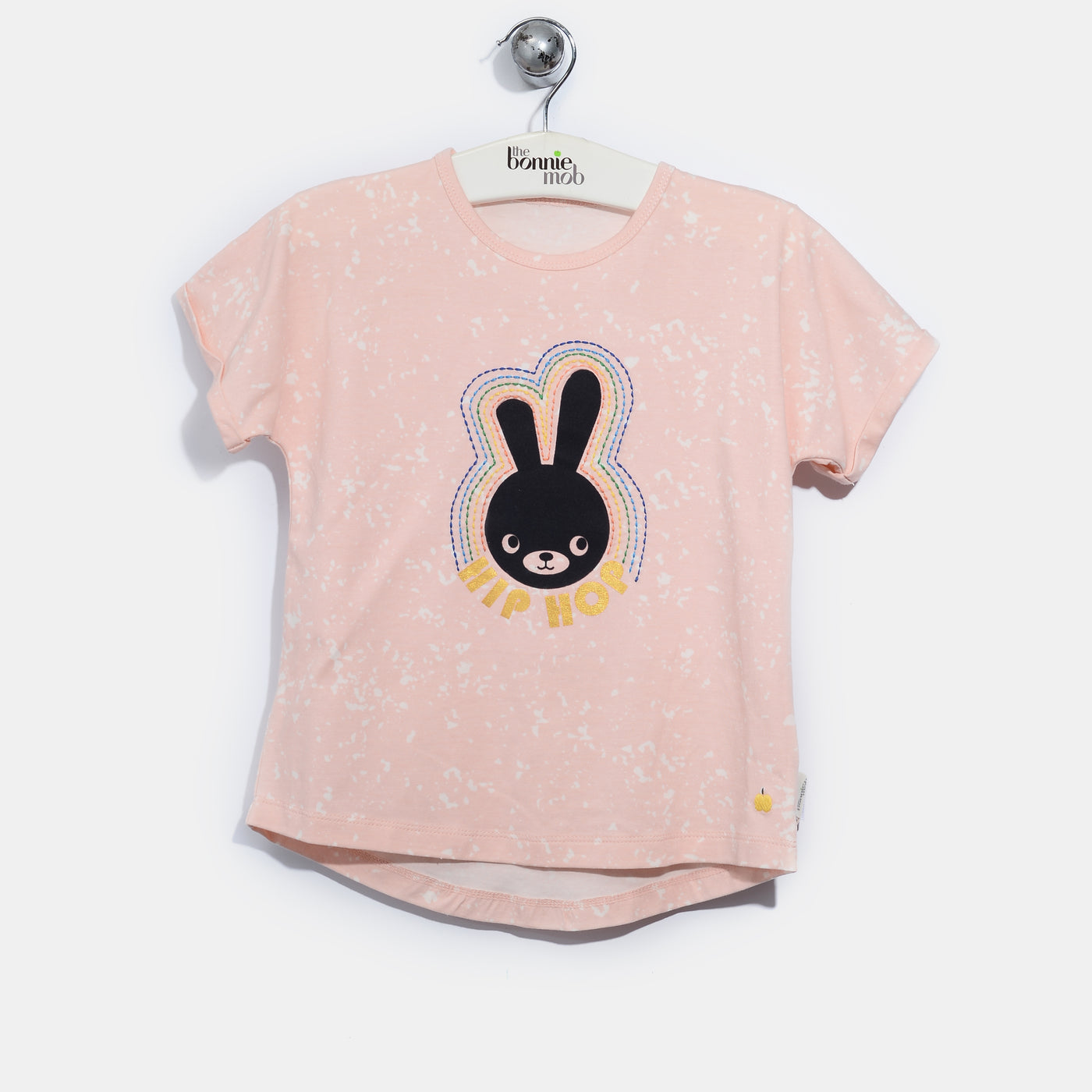 L-BUNNY-Hip Hop Bunny T-shirt-Kids Girl-Blush