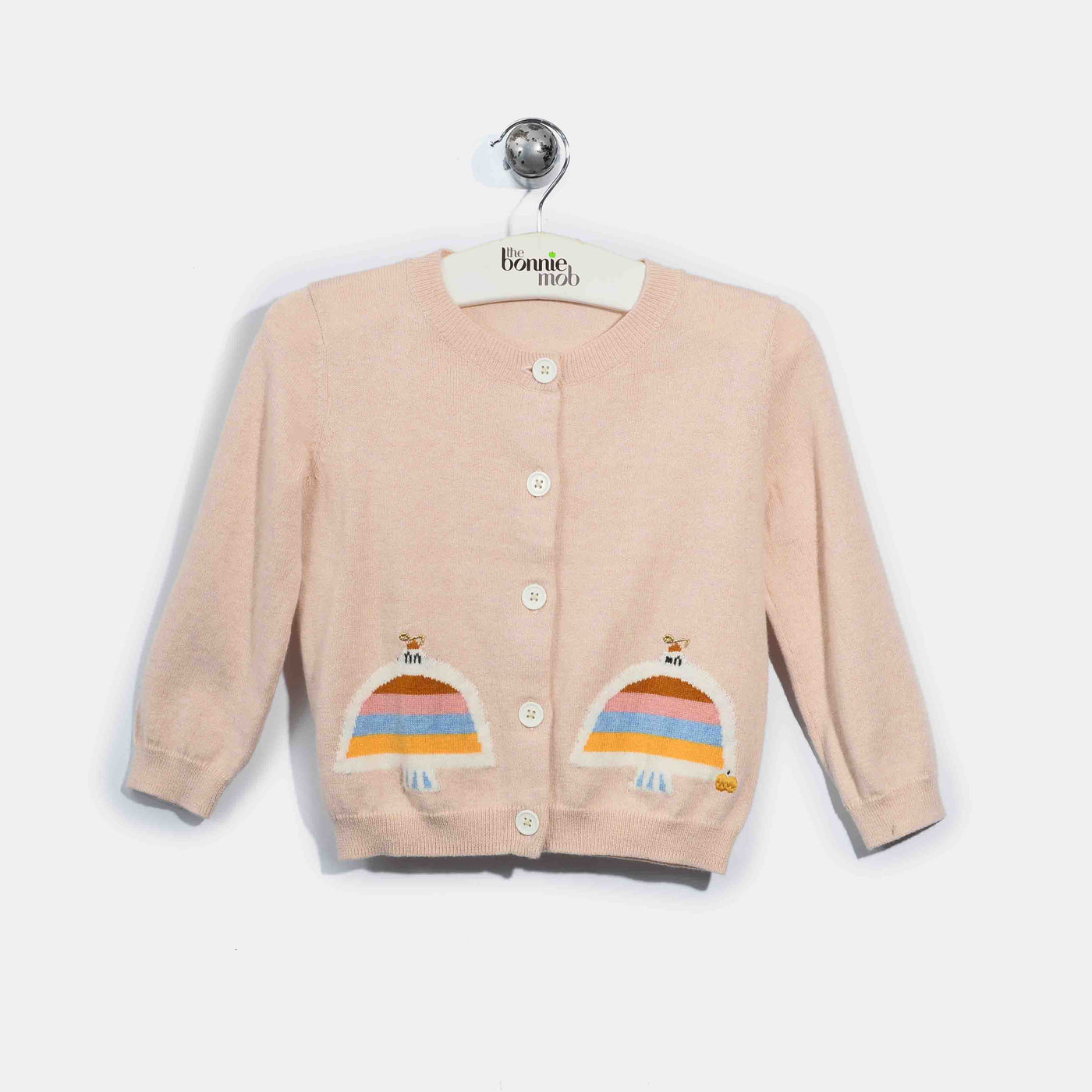 L-DANA-Rainbow Dove Cardigan-Baby Girl-Blush