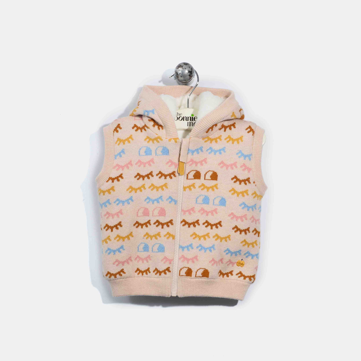 L-ERIN-Rainbow Eyelash Gilet-Kids Girl-Pink