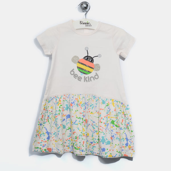L-ESME-Bee Happy Dress-Baby Girl-Splatter