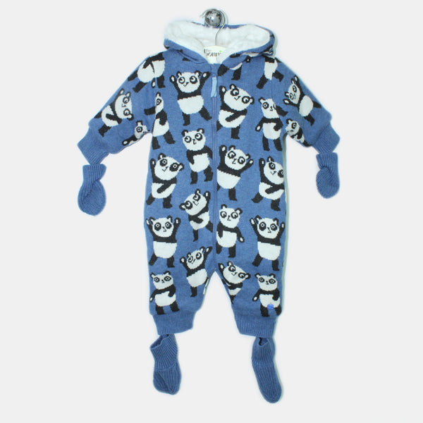 L-GEMMA-Panda Snowsuit-Baby-Denim