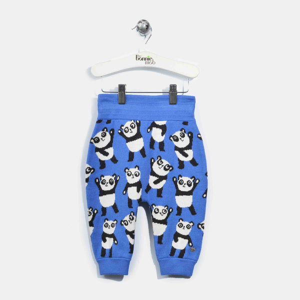L-GEORGIE-Panda Repeat Trouser-Baby-Denim