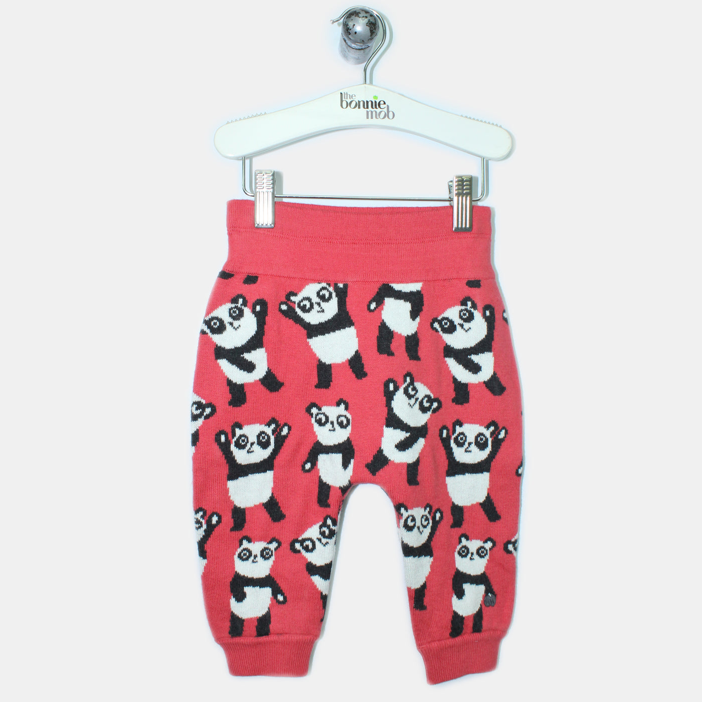L-GEORGIE-Panda Repeat Trouser-Baby Girl-Red