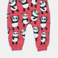L-GEORGIE-Panda Repeat Trouser-Kids Girl-Red