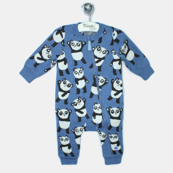 L-GIGI-Panda Repeat Romper Suit-Baby-Denim