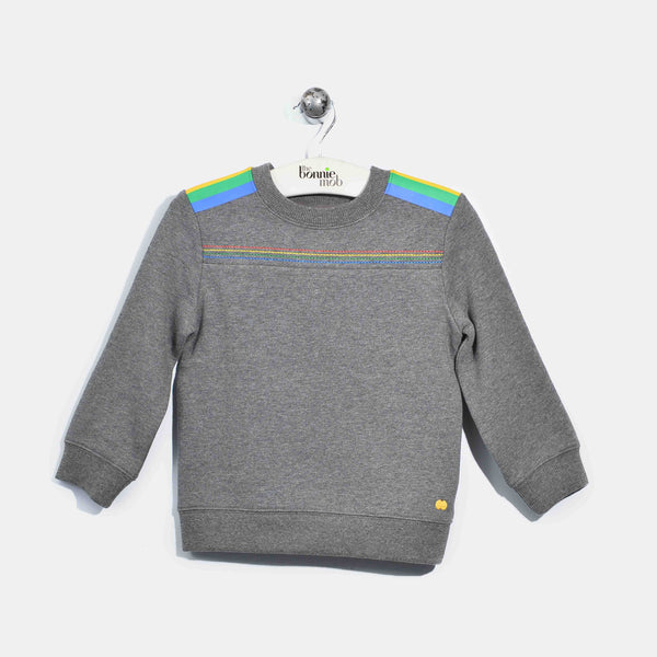L-HARRIET-Brushed Cotton Jumper-Kids-Dark Grey