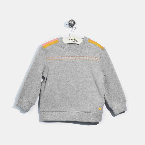 L-HARRIET-Brushed Cotton Jumper-Kids-Light Grey