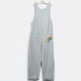 L-HAZEL-Denim Stripe Easy Jumpsuit-Kids-Light Denim