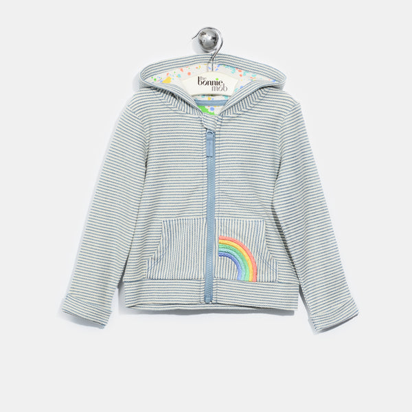 L-HECTOR-Denim Stripe Hoodie-Baby-Light Denim