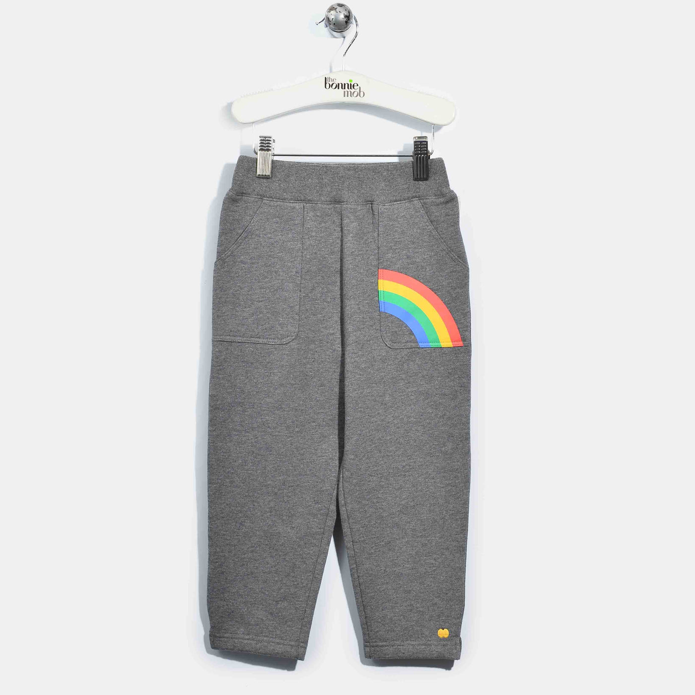 L-HENRY-Brushed Cotton Trousers-Kids-Dark Grey