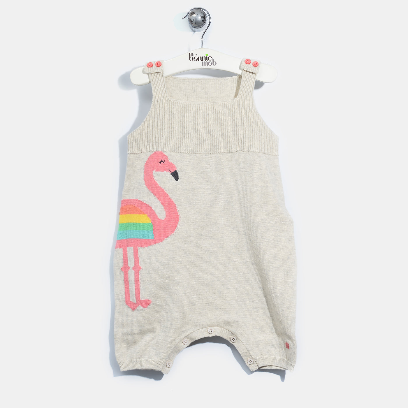 L-IRIS-Flamingo Romper-Baby Girl-Blush