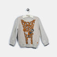 L-LOLA-Leopard Jumper-Kids-Grey