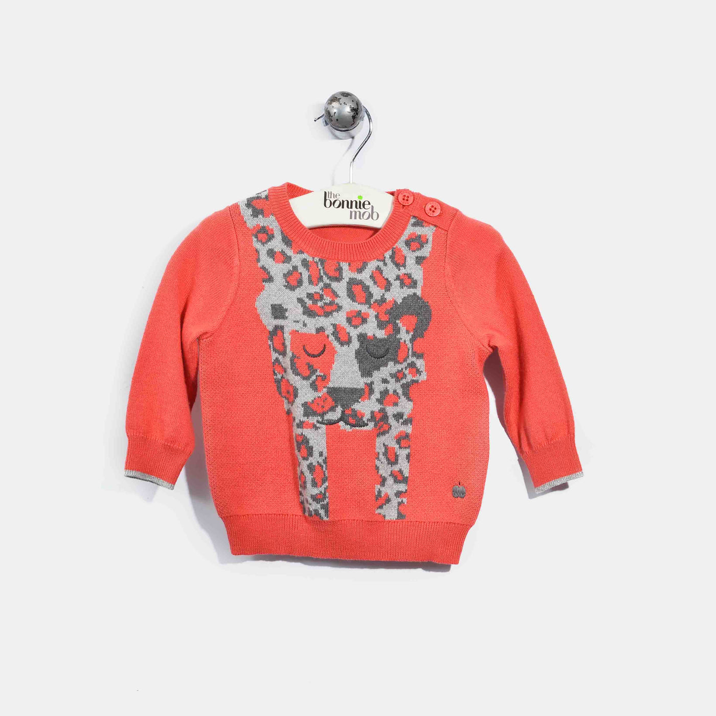 L-LOLA-Leopard Jumper-Baby Girl-Red