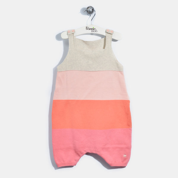 L-NELLY-Colourblock Romper-Baby Girl-Blush
