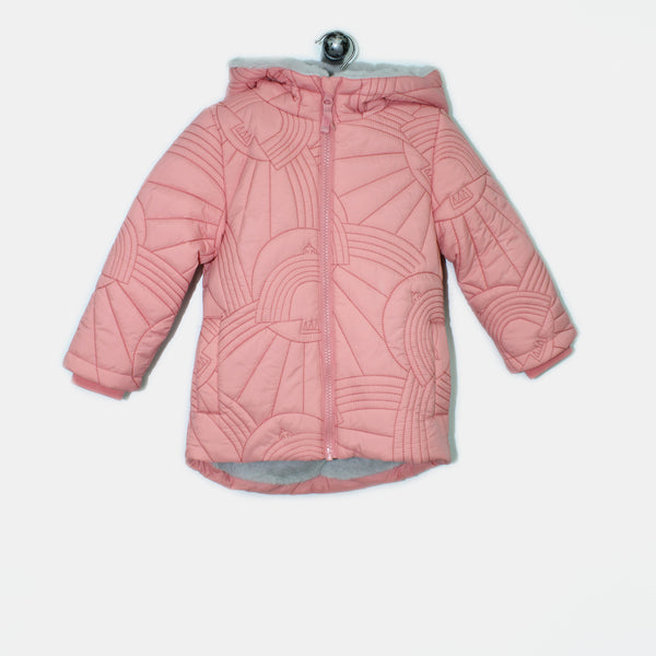 L-NOAH-Dove Embroidered Long Coat-Kids Girl-Pink