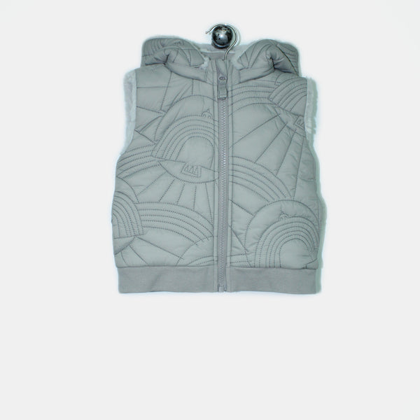 L-NORMAN-Dove Embroidered Gilet-Baby-Grey
