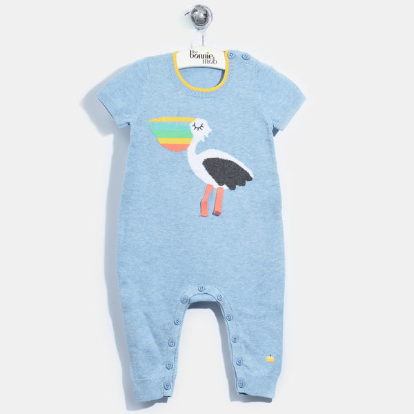 L-PEPE-Pecri Pelican Playsuit-Baby-Light Denim