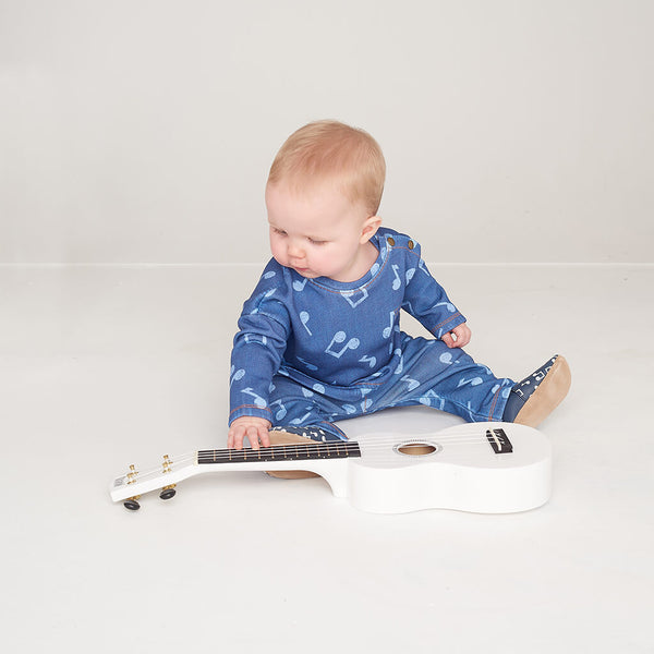 LANE - Baby Printed Eco Denim Sweatshirt - MUSIC DENIM