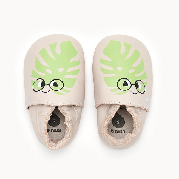 LEAF - Baby Leaf Soft Sole Shoe MILK