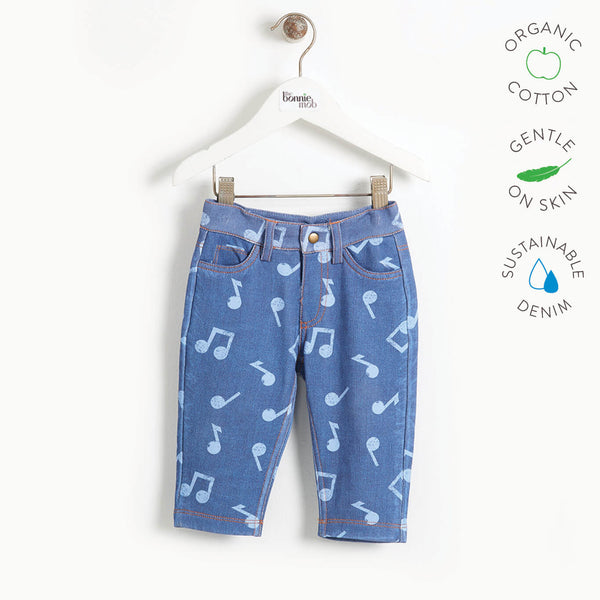 LIVERPOOL - Baby Printed Eco Denim Jeans - MUSIC DENIM