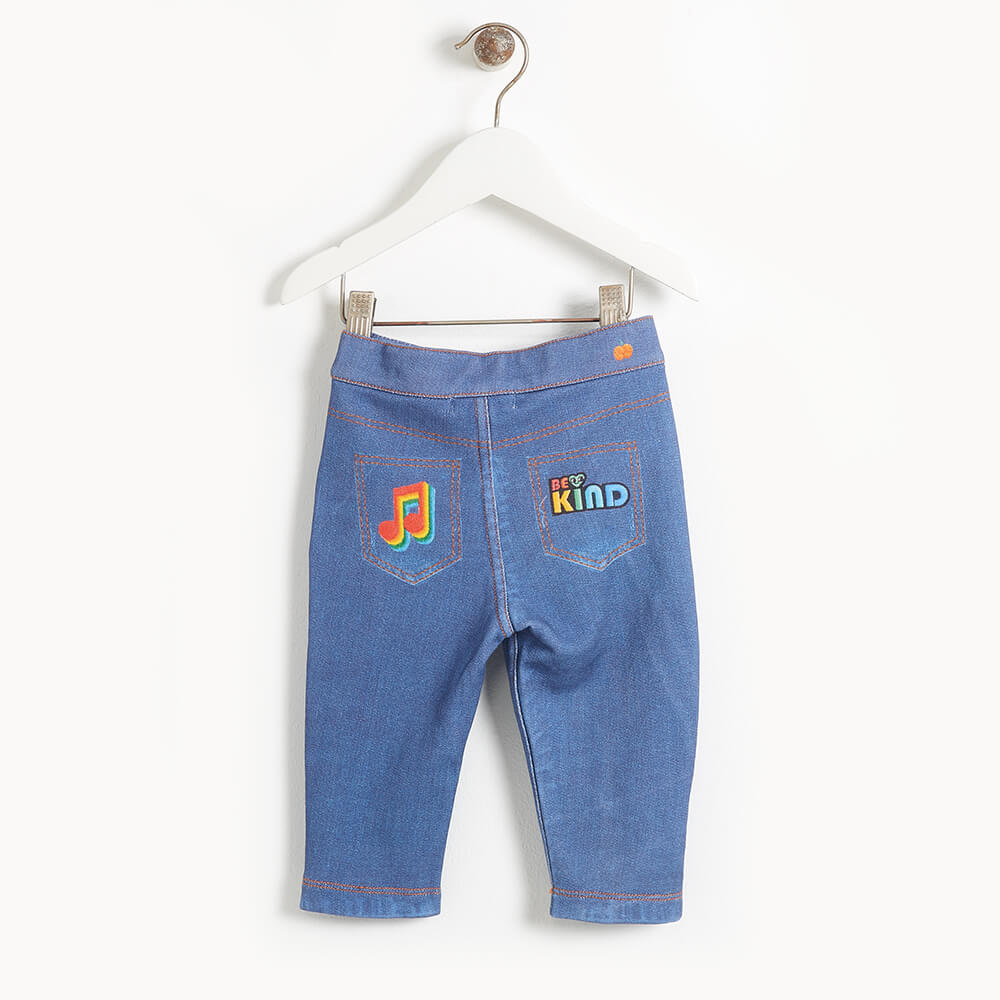 LIVERPOOL - Baby Printed Eco Denim Jeans - DENIM BADGES