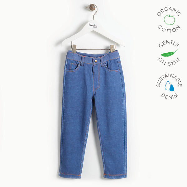 LIVERPOOL - Kids Printed Eco Denim Jeans  - DENIM BADGES
