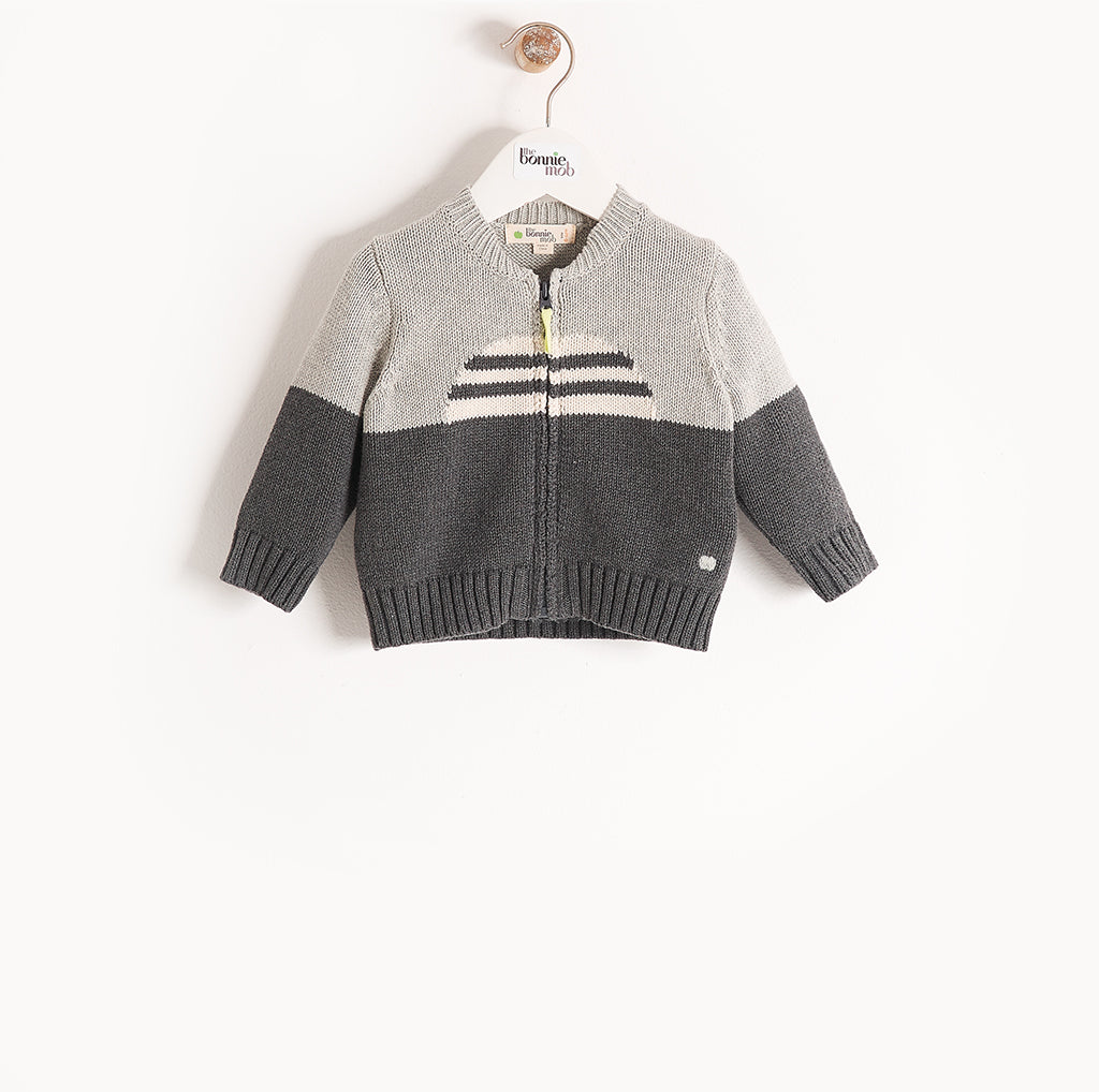 MALIBU - Kids - Cardigan - GREY MONOCHROME