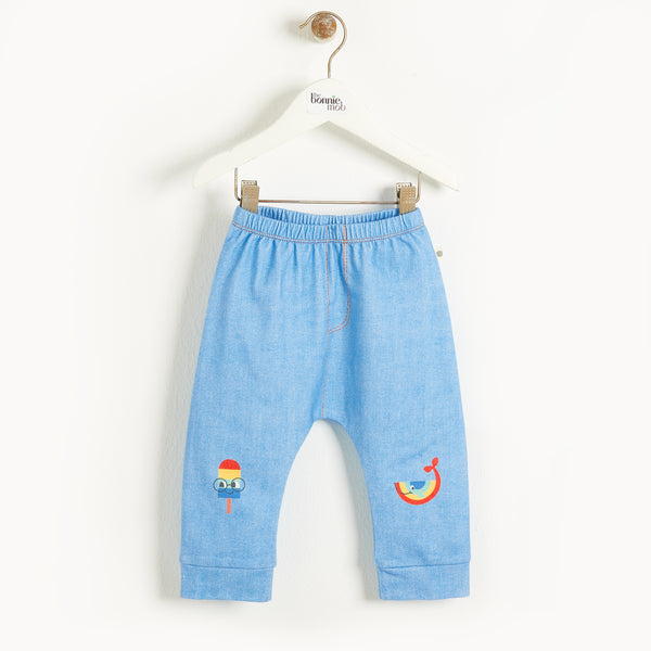 MALTA - Kids Comfy Jogger  DENIM RAINBOWS