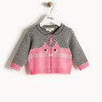 MARIO - Cat Intarsia Cardigan - Kids Girl - Pink