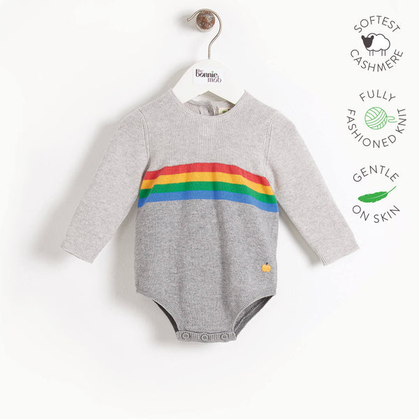 MCCARTNEY - Baby Knitted Romper - GREY