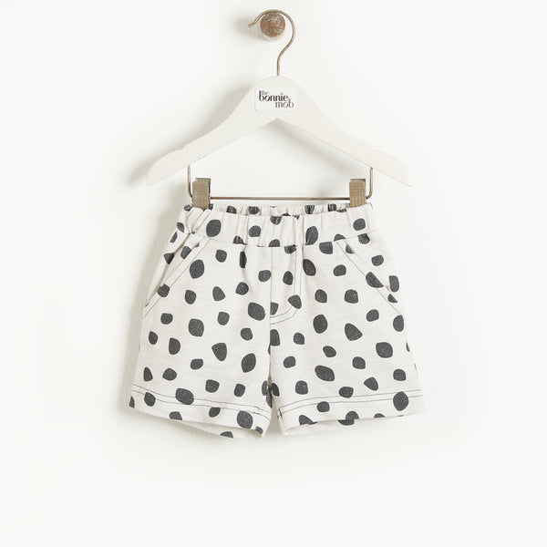 MIAMI - Baby Comfy Shorts GREY LEOPARD