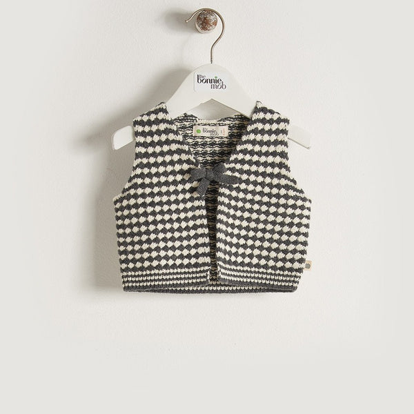 MIKO - Unisex Baby Chunky Knitted Gilet - Monochrome