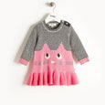 MISSY - Cat Intarsia Dress - Baby Girl - Pink