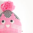 MOE - Cat Intarsia Hat - Kids Girl - Pink