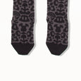 NORI - Leopard Print Knee Length Socks - Kids Girl - Pale grey