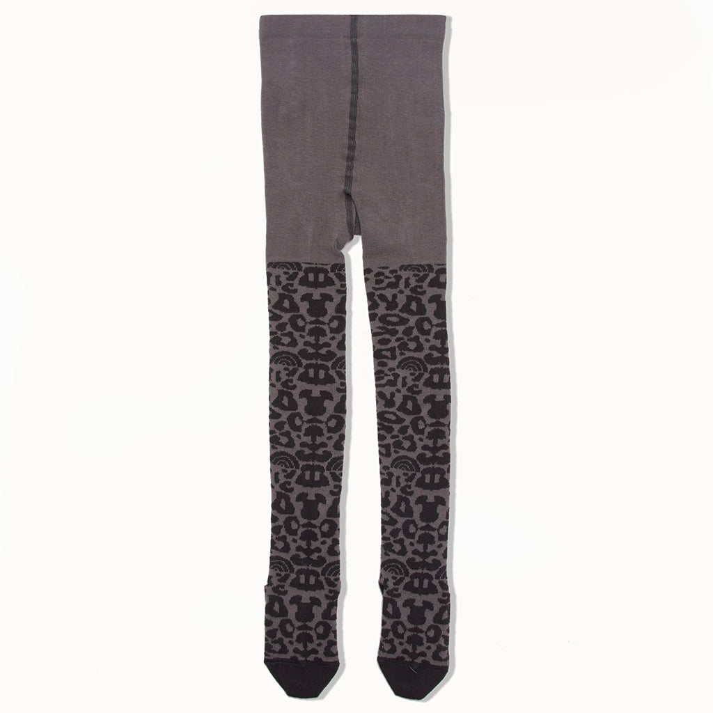 NENEH - Leopard Print Tights - Kids Girl - Pale grey