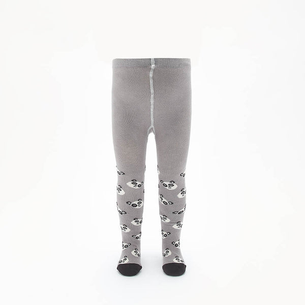 PEEP - Kids Panda Face Tights  - GREY