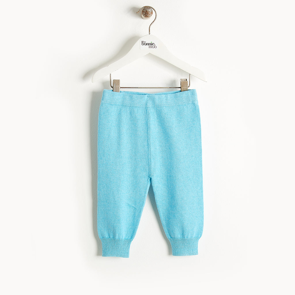 PHILLY - Knit Jogging Trousers - Kids Boy - Pale blue