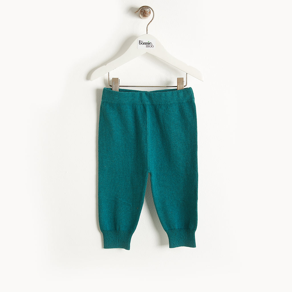 PHILLY - Knit Jogging Trousers - Baby Boy - Teal