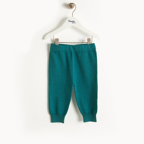 PHILLY - Knit Jogging Trousers - Kids Boy - Teal