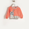 RAFFA - Baby Girl Knitted Tiger Sweater - Sorbet