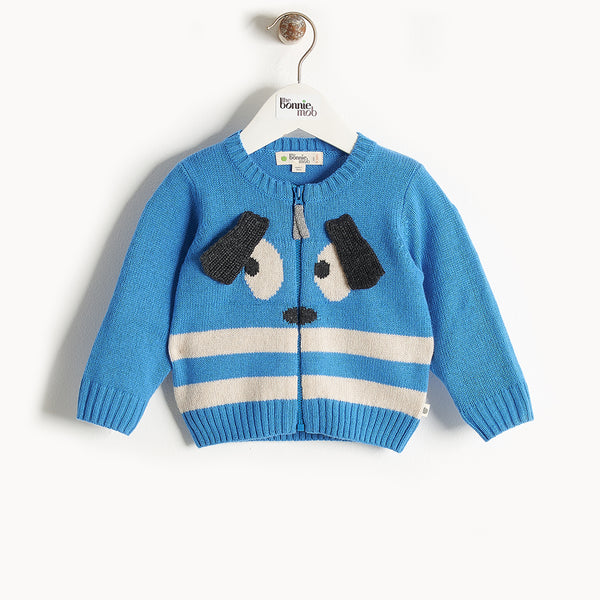 RHYME - Bunny Ears Cardigan - Baby Boy - Blue