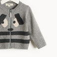 RHYME - Bunny Ears Cardigan - Kids Unisex - Grey