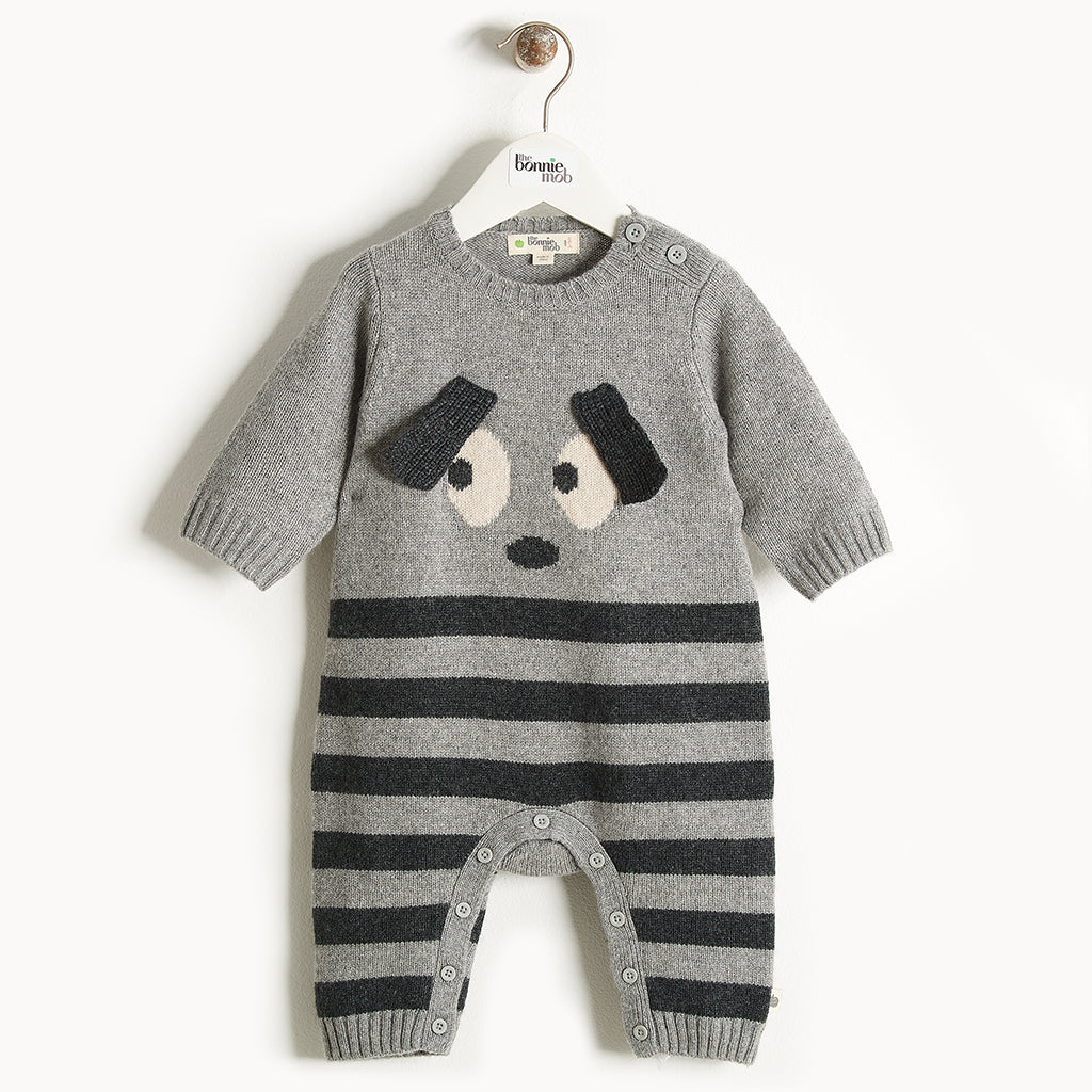 ROXY - Bunny Ears Playsuit - Baby Unisex - Grey
