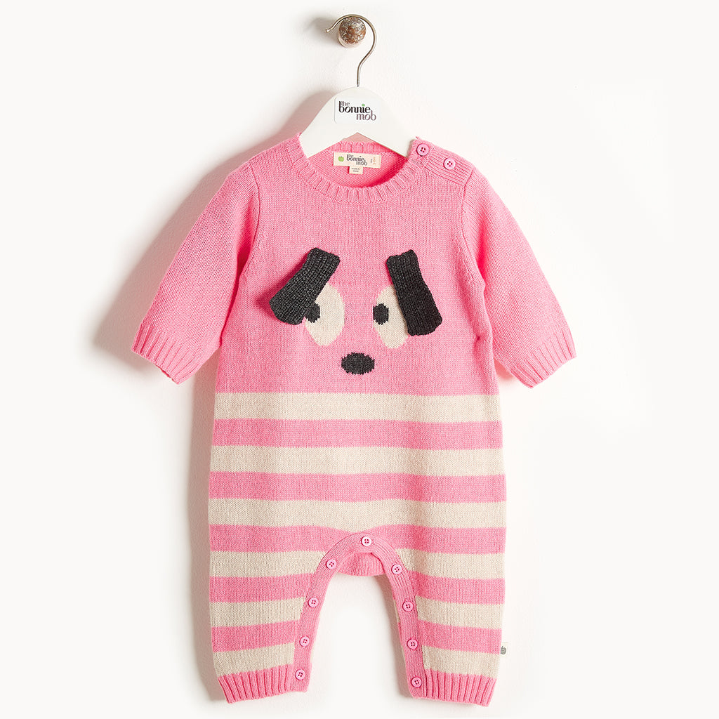 ROXY - Bunny Ears Playsuit - Baby Girl - Pink