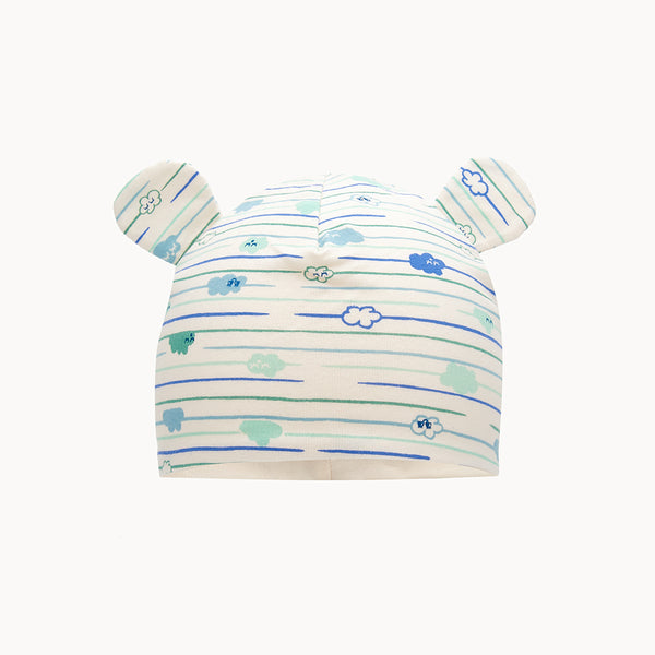 SANTA BARBARA - Baby Cloud Hat With Ears BLUE