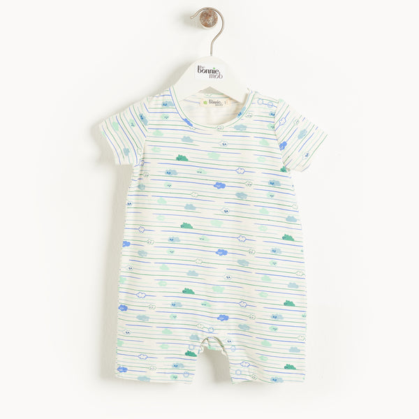 SAN JOSE - Baby Cloud Shorty Playsuit BLUE