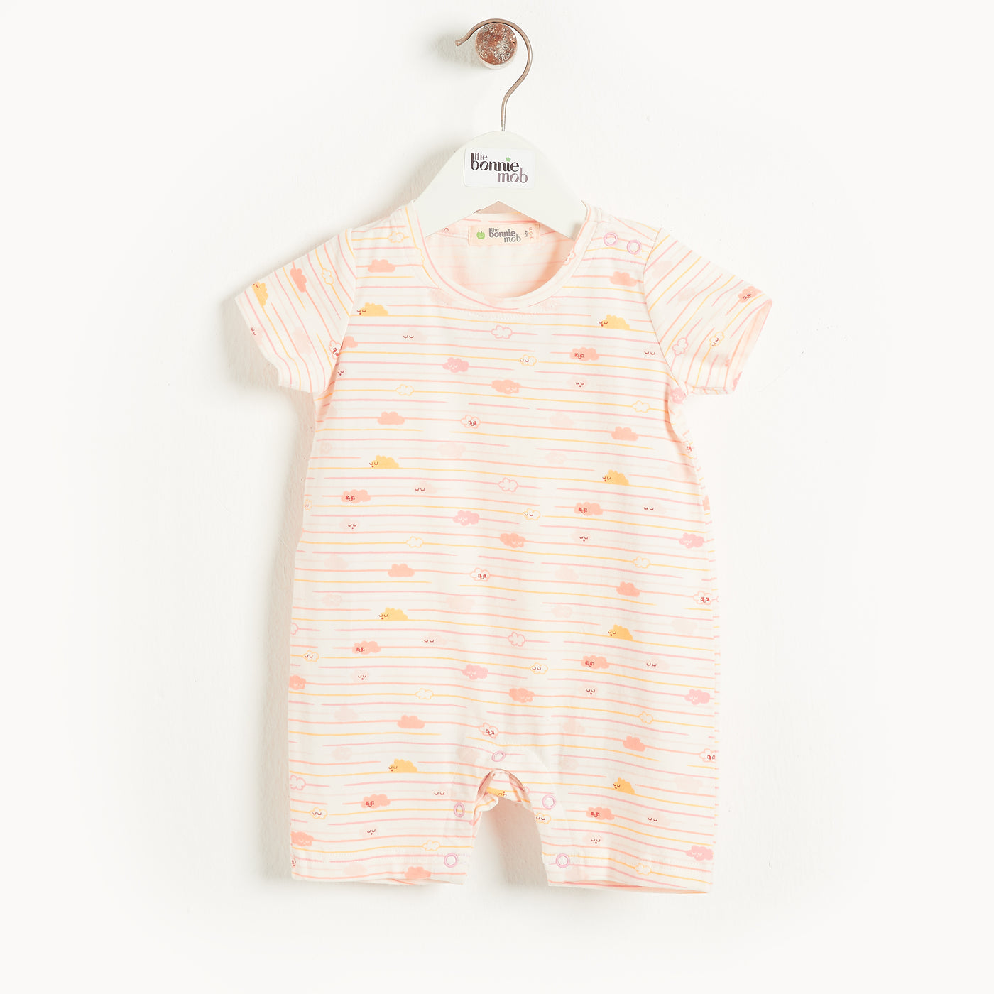 SAN JOSE - Baby Cloud Shorty Playsuit PEACH